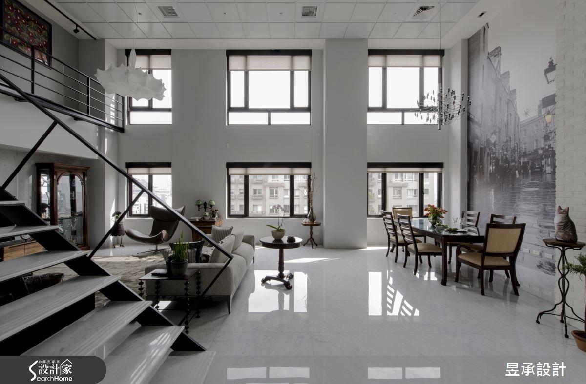 67坪中古屋(5~15年)_工業風客廳案例圖片_昱承室內裝修設計_昱承_33之5