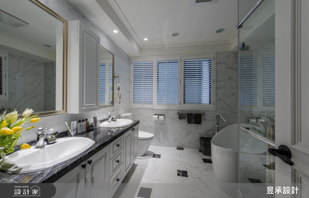 102坪新成屋(5年以下)_美式風浴室案例圖片_昱承室內裝修設計_昱承_37之10