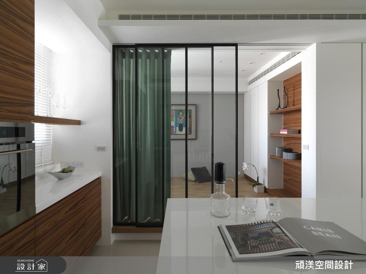 30坪新成屋(5年以下)_北歐風餐廳臥室案例圖片_頑渼空間設計_頑渼_07之12