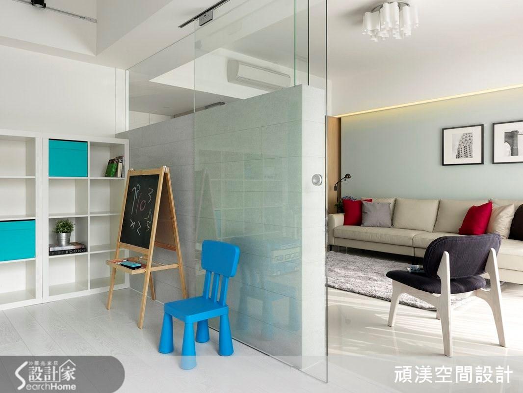 40坪新成屋(5年以下)_北歐風客廳案例圖片_頑渼空間設計_頑渼_11之4