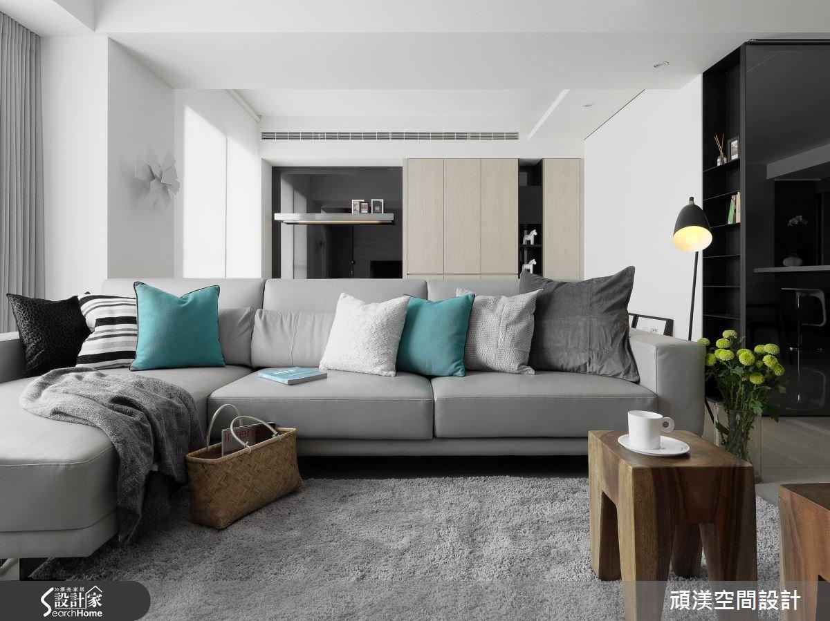 40坪新成屋(5年以下)_北歐風客廳案例圖片_頑渼空間設計_頑渼_13之2