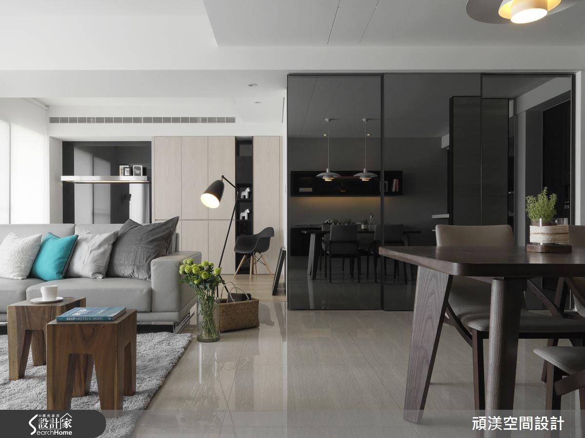 40坪新成屋(5年以下)_北歐風客廳案例圖片_頑渼空間設計_頑渼_13之3