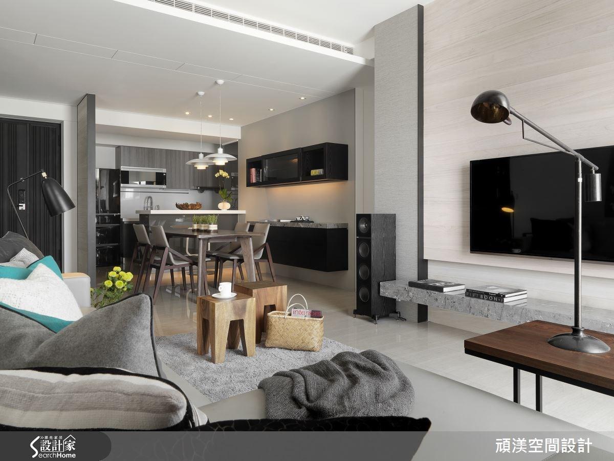 40坪新成屋(5年以下)_北歐風客廳案例圖片_頑渼空間設計_頑渼_13之4