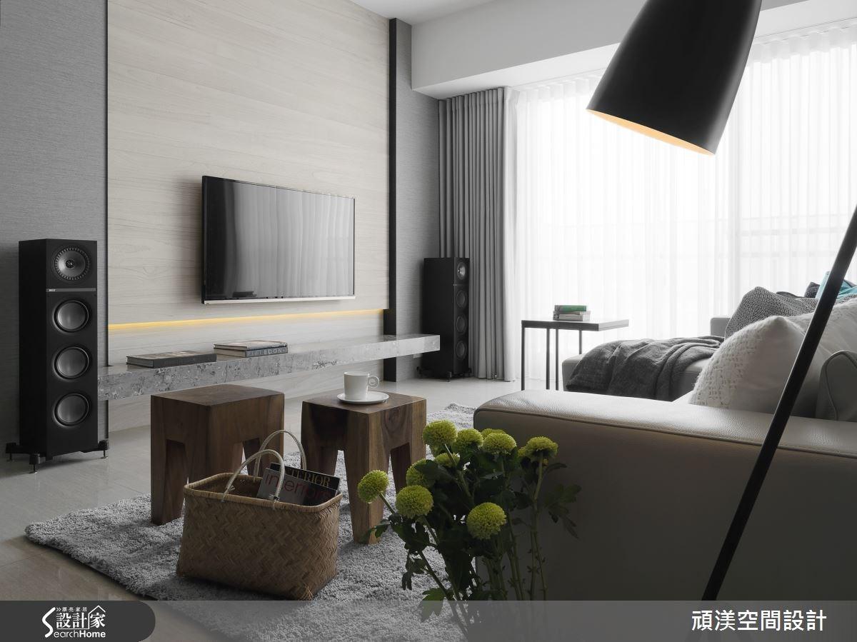 40坪新成屋(5年以下)_北歐風客廳案例圖片_頑渼空間設計_頑渼_13之5