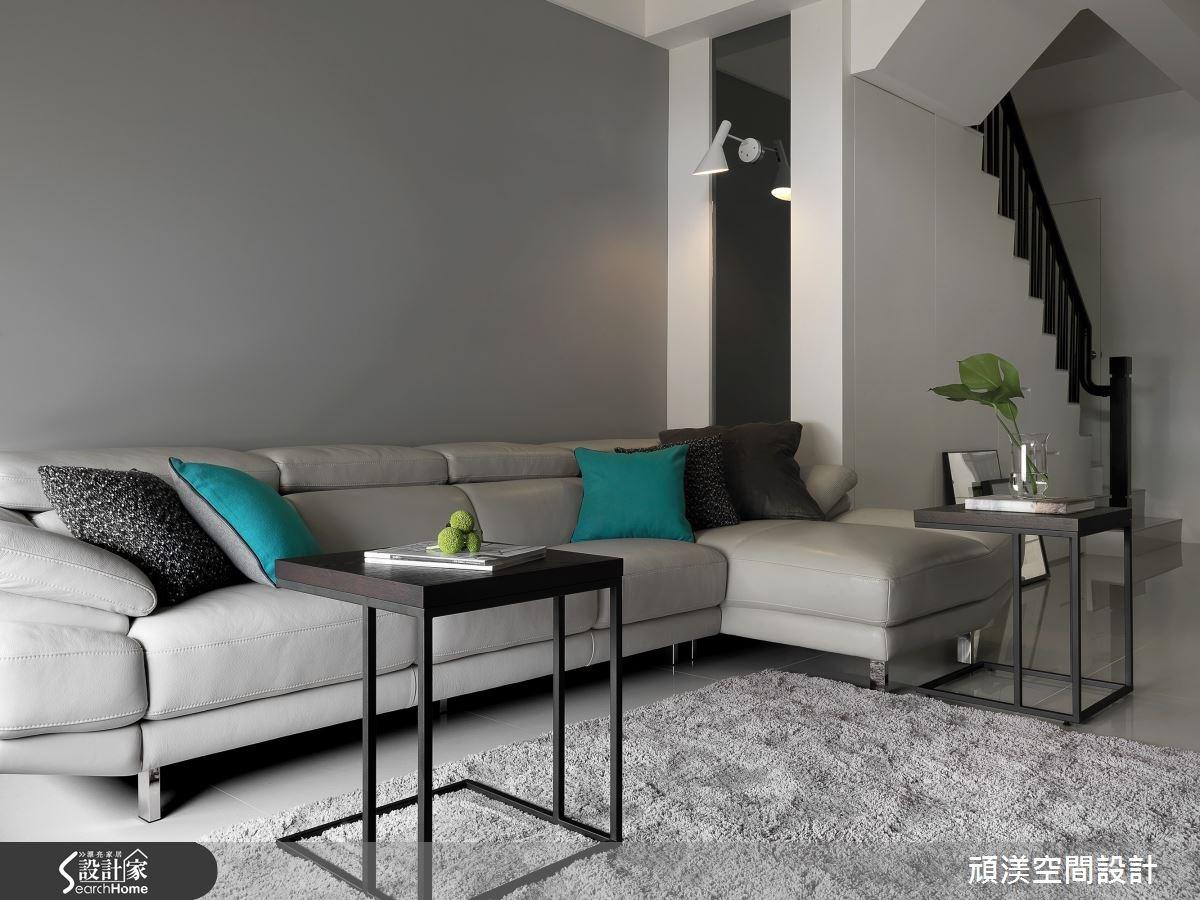 60坪新成屋(5年以下)_北歐風客廳案例圖片_頑渼空間設計_頑渼_15之2