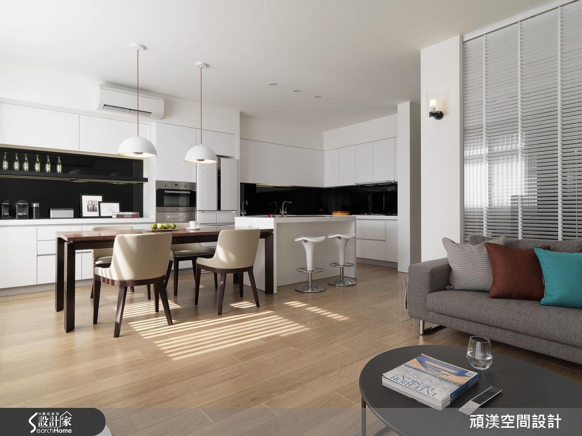 60坪新成屋(5年以下)_現代風客廳餐廳廚房吧檯案例圖片_頑渼空間設計_頑渼_18之3