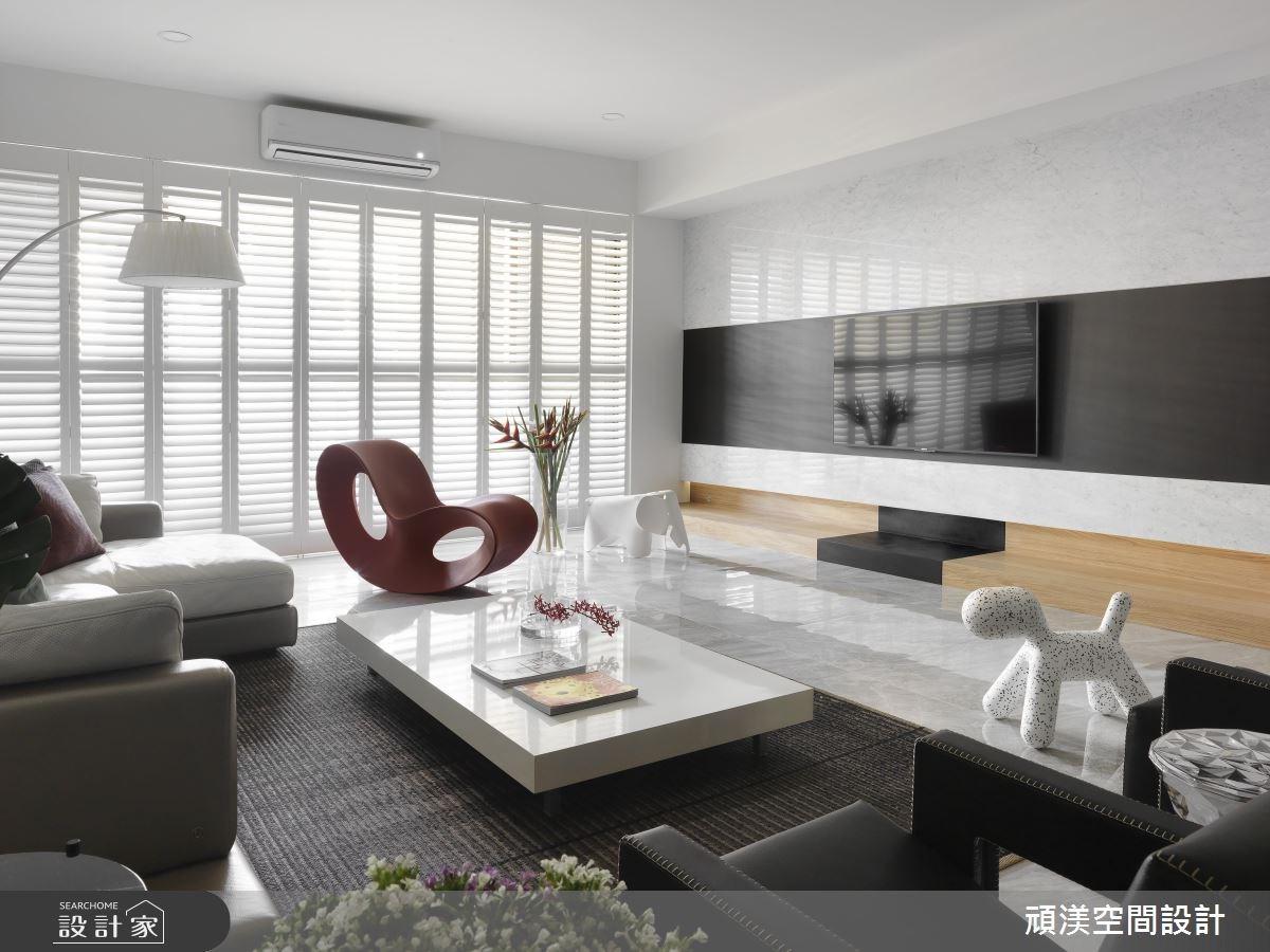 60坪新成屋(5年以下)_現代風客廳案例圖片_頑渼空間設計_頑渼_20之1