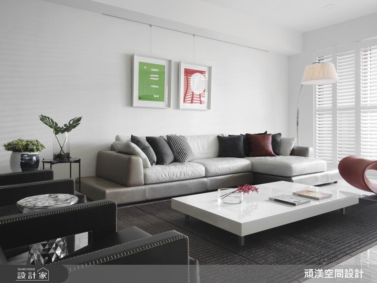 60坪新成屋(5年以下)_現代風客廳案例圖片_頑渼空間設計_頑渼_20之4