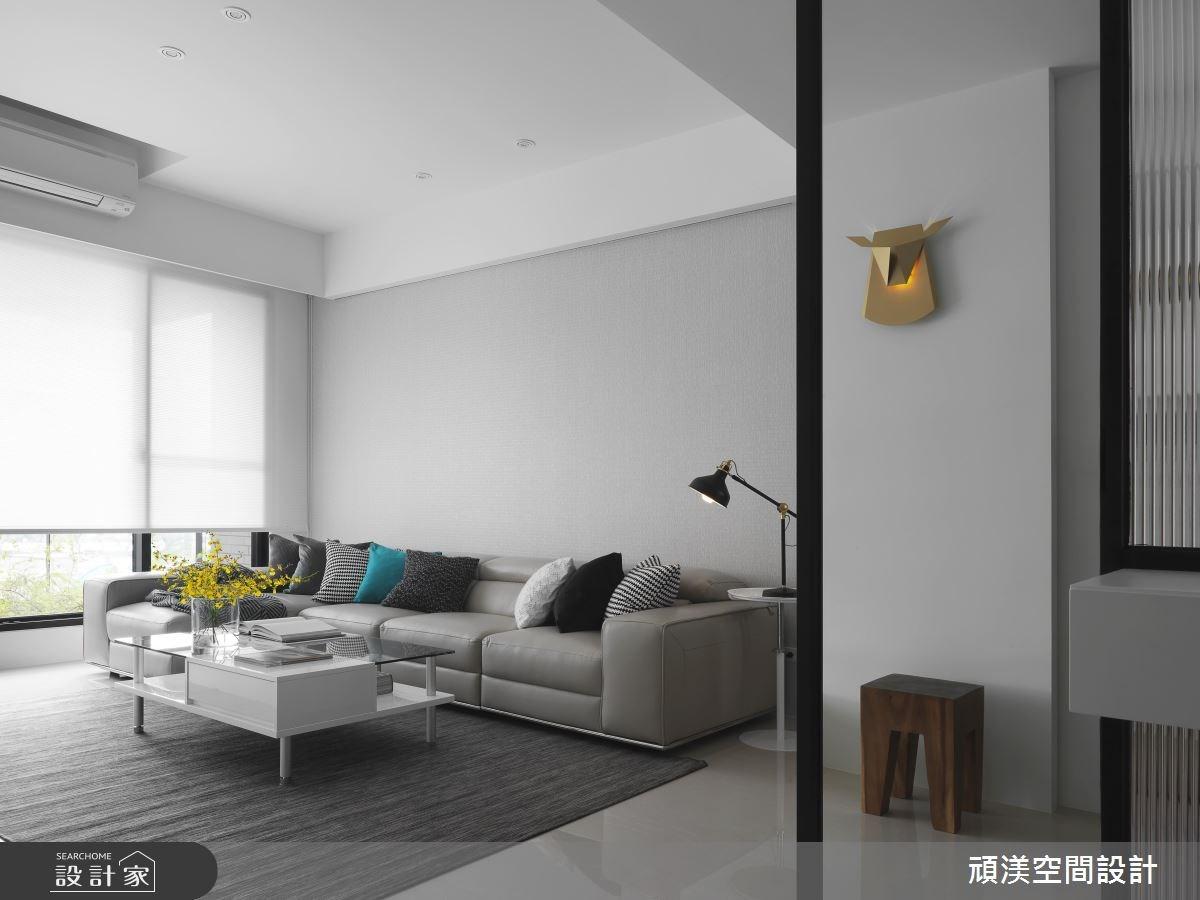 40坪新成屋(5年以下)_現代風客廳案例圖片_頑渼空間設計_頑渼_21之4
