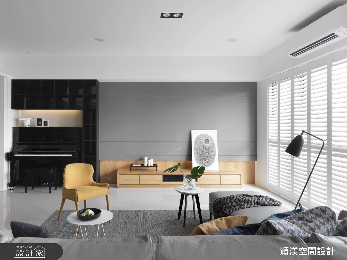 50坪新成屋(5年以下)_現代風客廳案例圖片_頑渼空間設計_頑渼_22之1