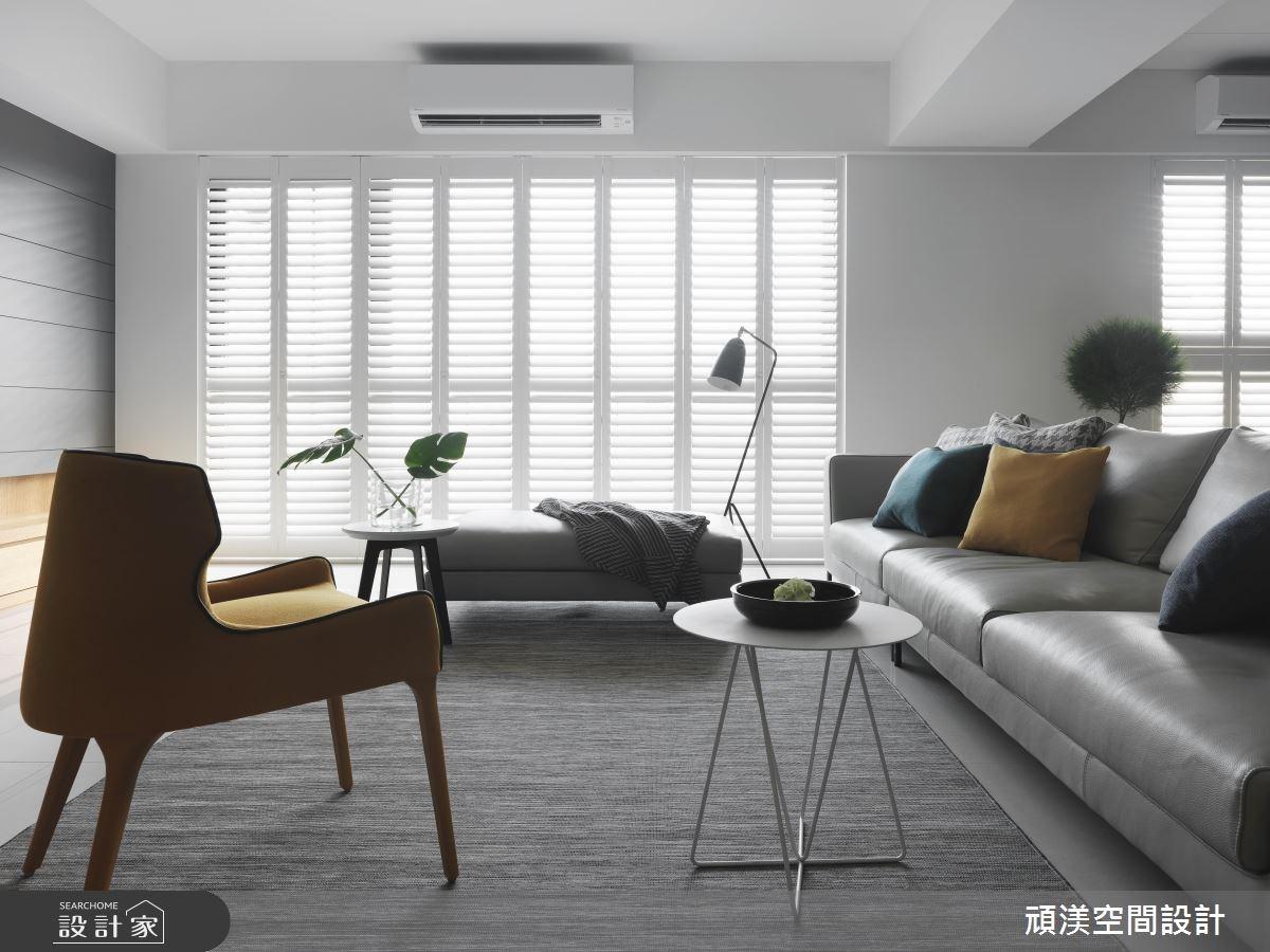 50坪新成屋(5年以下)_現代風客廳案例圖片_頑渼空間設計_頑渼_22之2