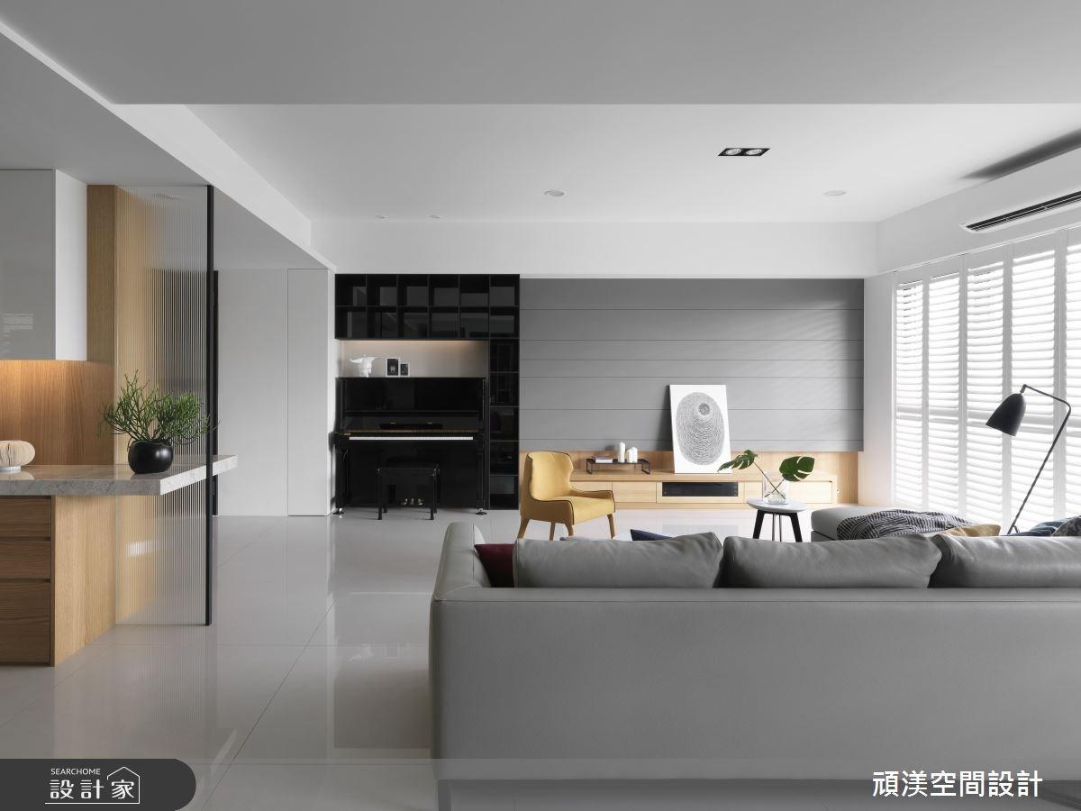 50坪新成屋(5年以下)_現代風客廳案例圖片_頑渼空間設計_頑渼_22之3