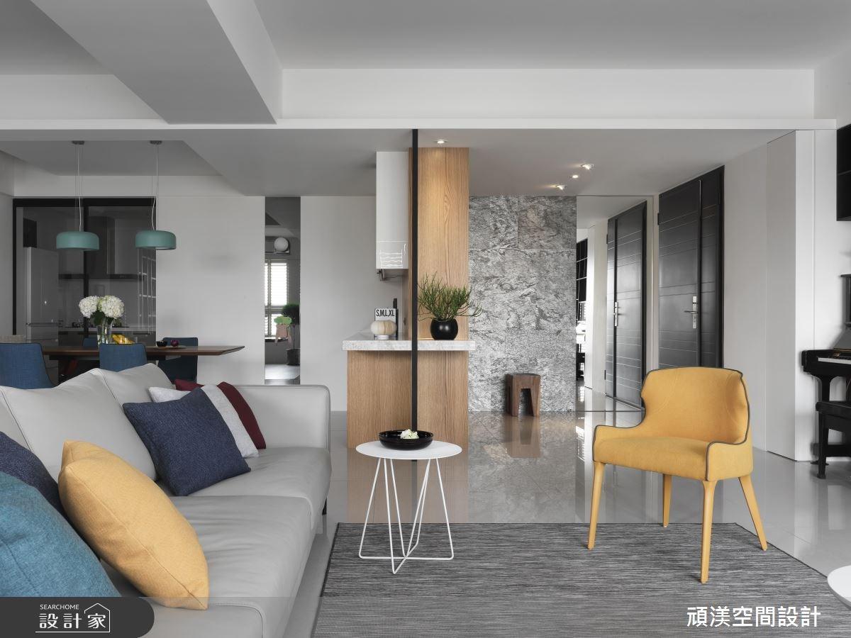 50坪新成屋(5年以下)_現代風客廳案例圖片_頑渼空間設計_頑渼_22之4