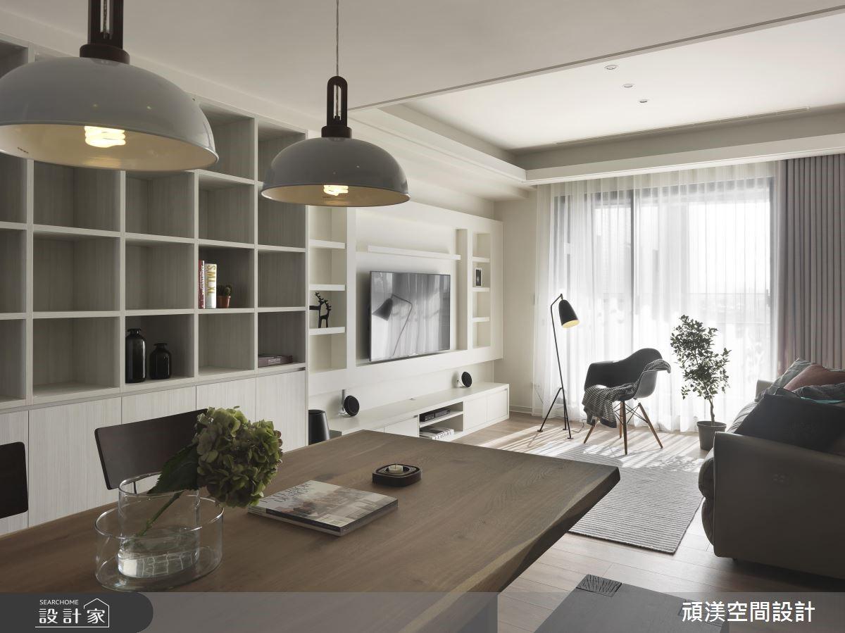 30坪新成屋(5年以下)_北歐風客廳案例圖片_頑渼空間設計_頑渼_24之3