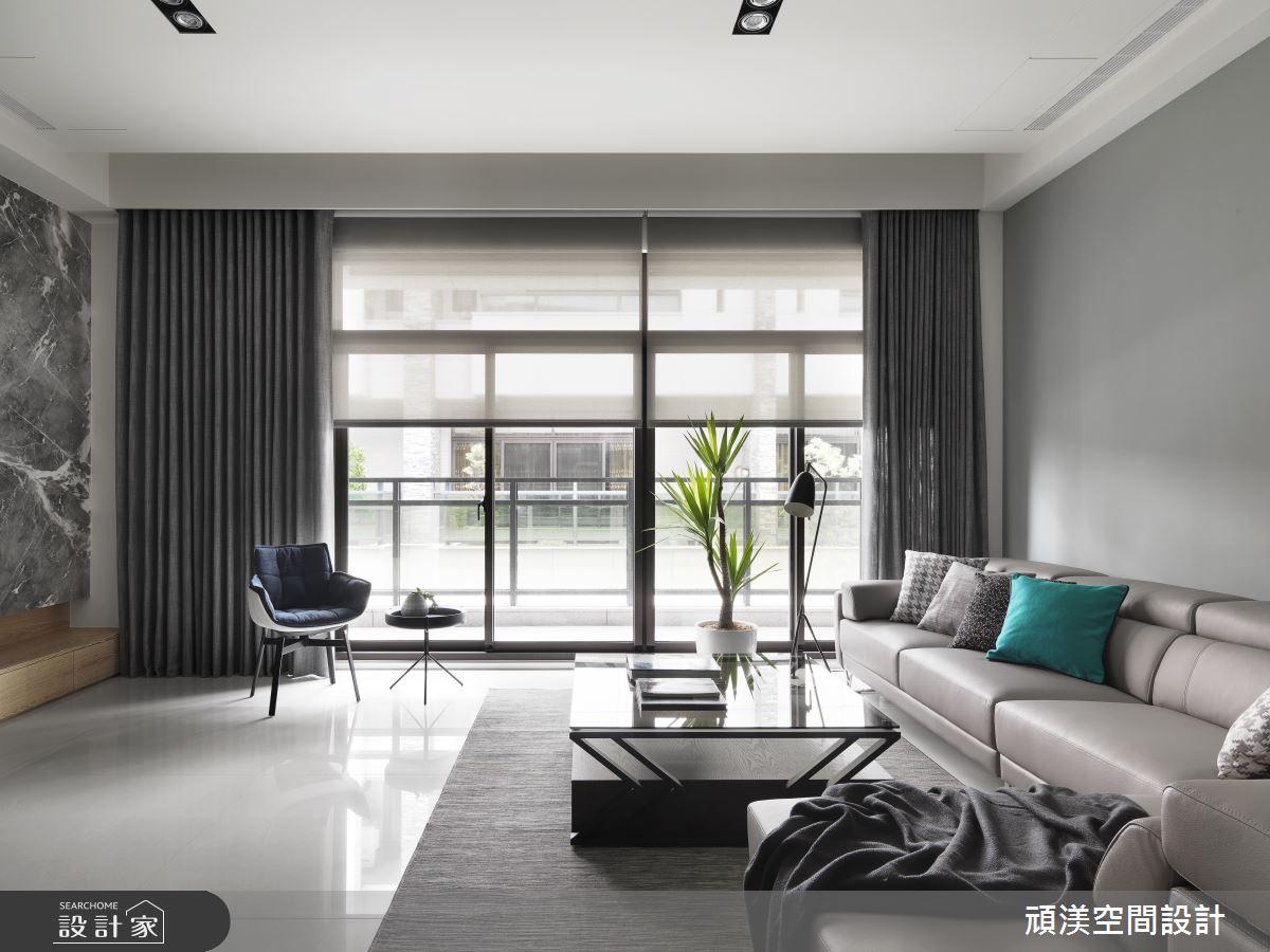 60坪新成屋(5年以下)_現代風客廳案例圖片_頑渼空間設計_頑渼_26之1