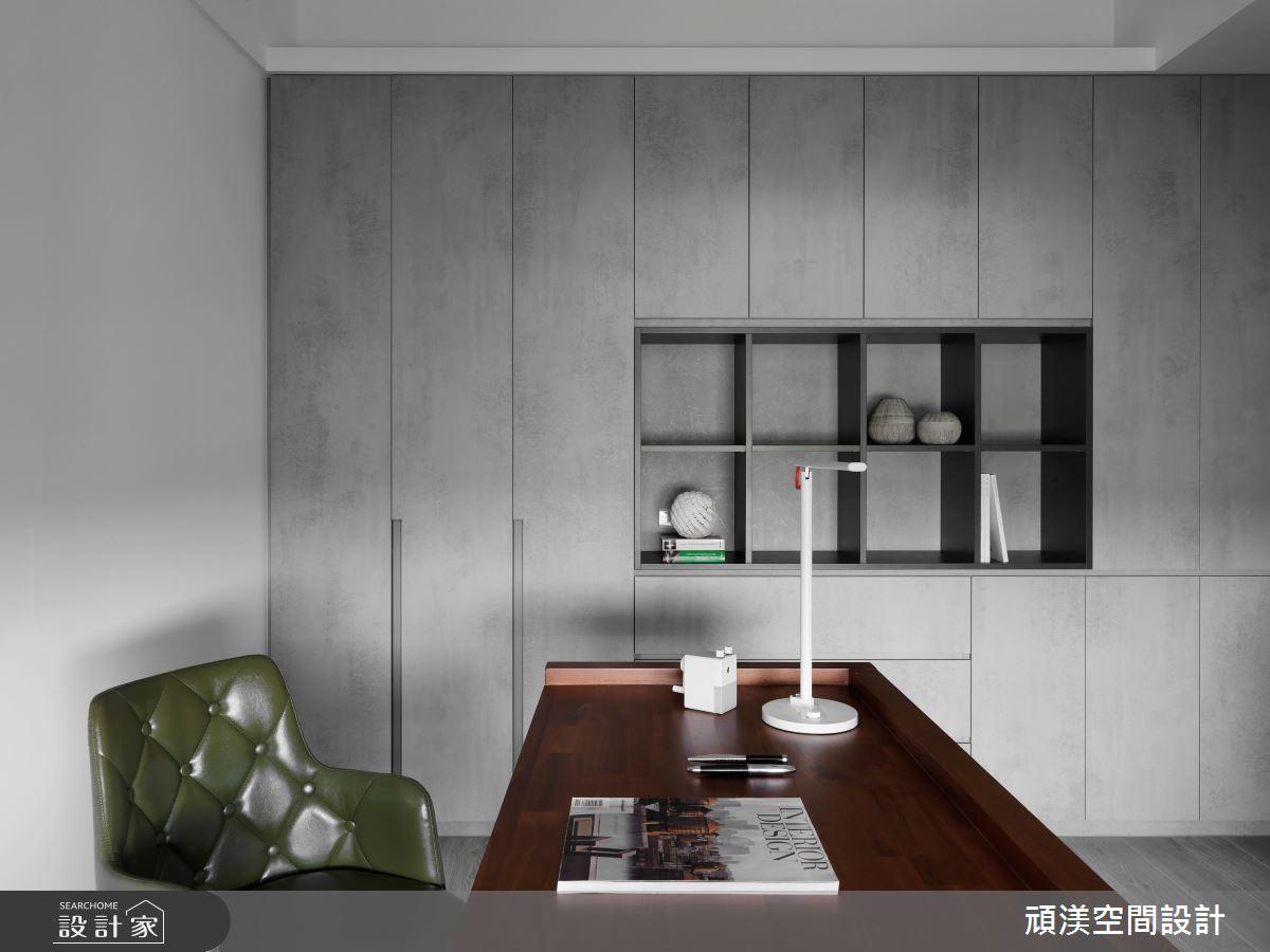 40坪新成屋(5年以下)_現代風書房案例圖片_頑渼空間設計_頑渼_28之15