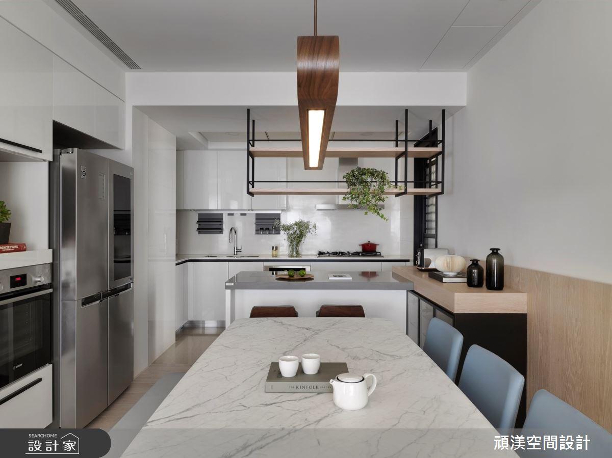 38坪新成屋(5年以下)_現代風餐廳廚房吧檯案例圖片_頑渼空間設計_頑渼_30之18