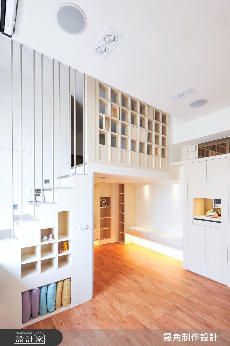 18坪新成屋(5年以下)_休閒風客廳樓梯案例圖片_晟角制作設計有限公司_晟角_半分甜之3