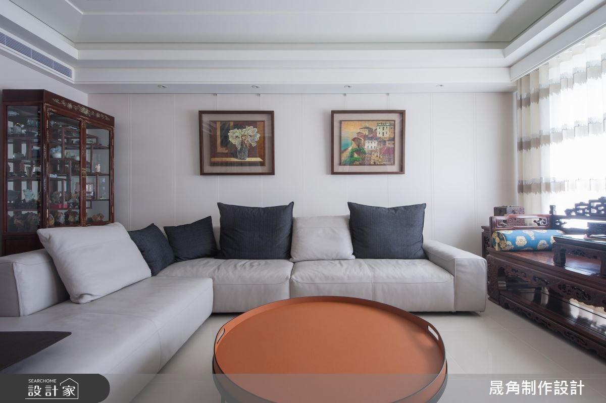 52坪新成屋(5年以下)_新中式風客廳案例圖片_晟角制作設計有限公司_晟角_墨韻之5