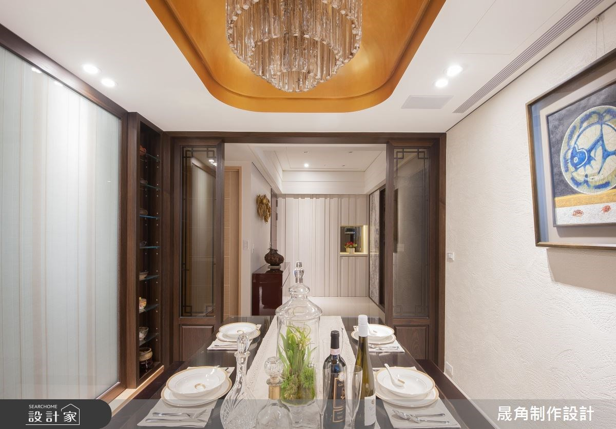 52坪新成屋(5年以下)_新中式風餐廳案例圖片_晟角制作設計有限公司_晟角_墨韻之8