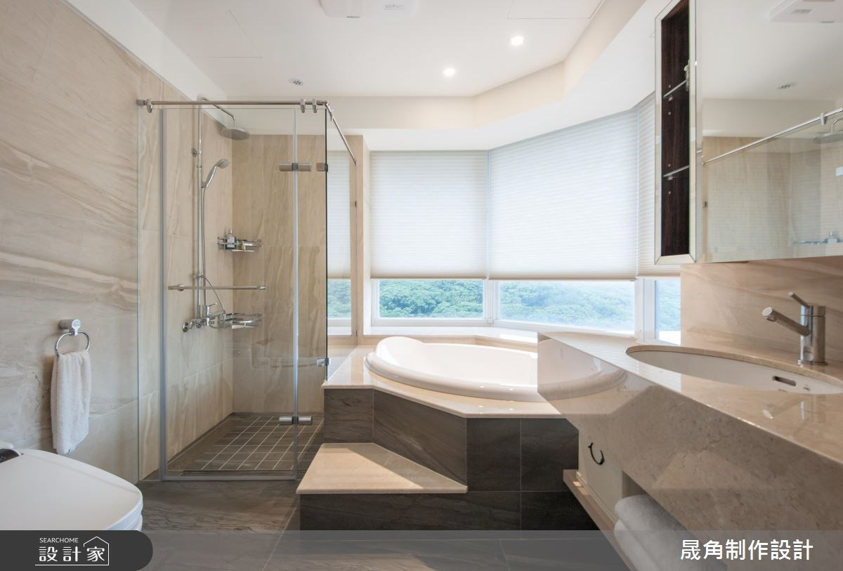 52坪新成屋(5年以下)_新中式風浴室案例圖片_晟角制作設計有限公司_晟角_墨韻之12