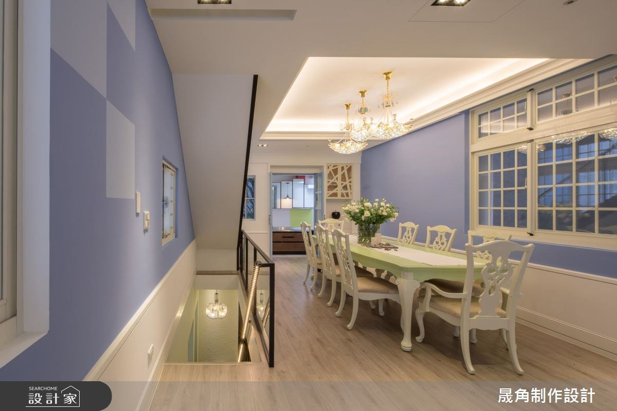 120坪老屋(16~30年)_混搭風餐廳廚房樓梯案例圖片_晟角制作設計有限公司_晟角_藍屋之11
