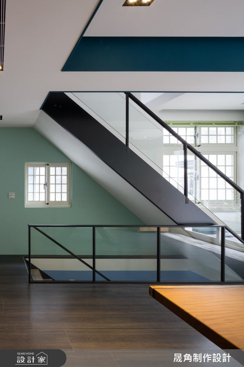 120坪老屋(16~30年)_混搭風樓梯案例圖片_晟角制作設計有限公司_晟角_藍屋之14