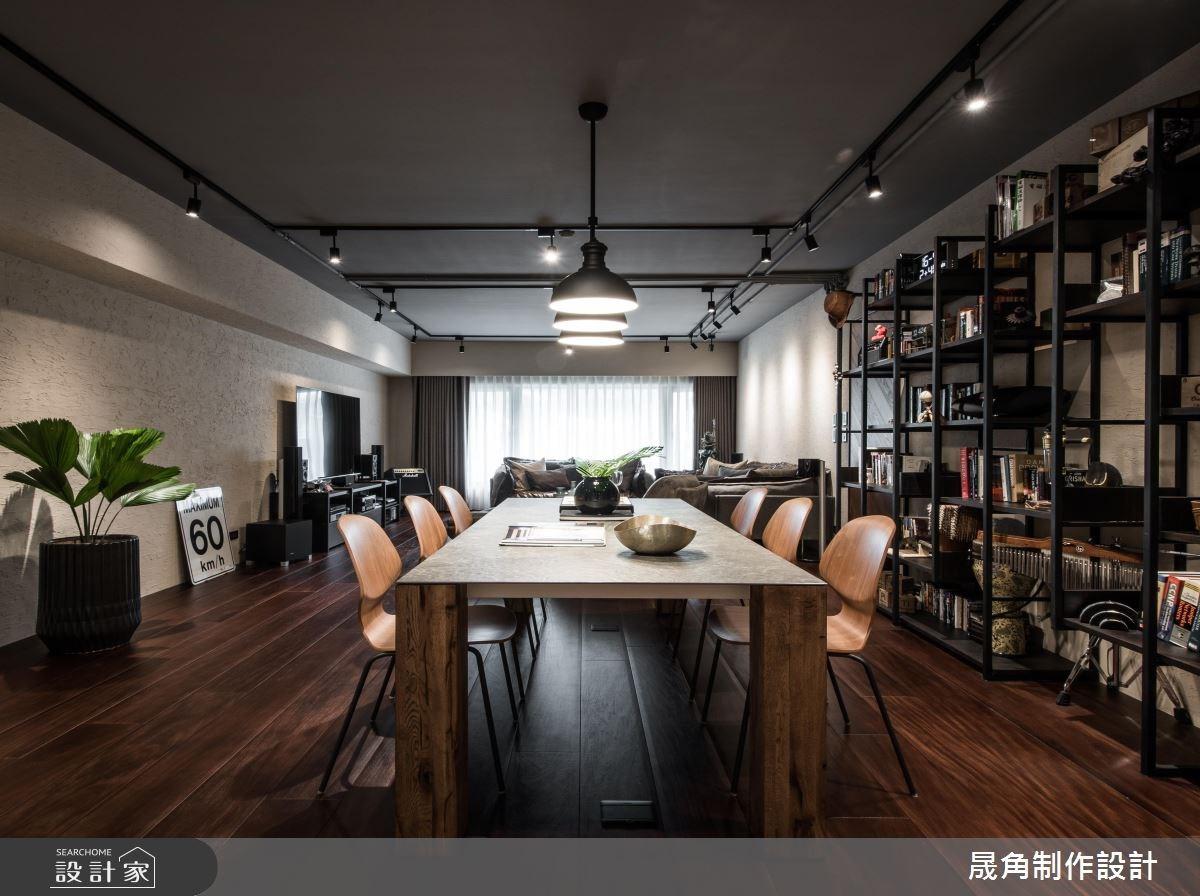 60坪新成屋(5年以下)_現代風客廳餐廳案例圖片_晟角制作設計有限公司_晟角_爵士之3
