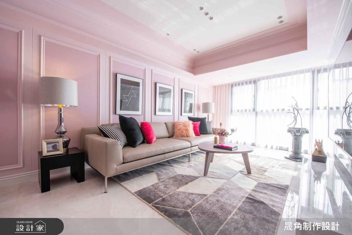 50坪新成屋(5年以下)_新古典客廳案例圖片_晟角制作設計有限公司_晟角_薔薇之1