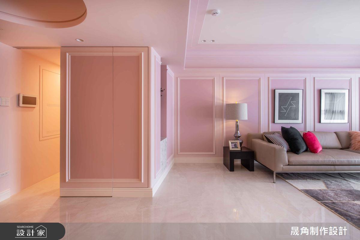 50坪新成屋(5年以下)_新古典客廳案例圖片_晟角制作設計有限公司_晟角_薔薇之4