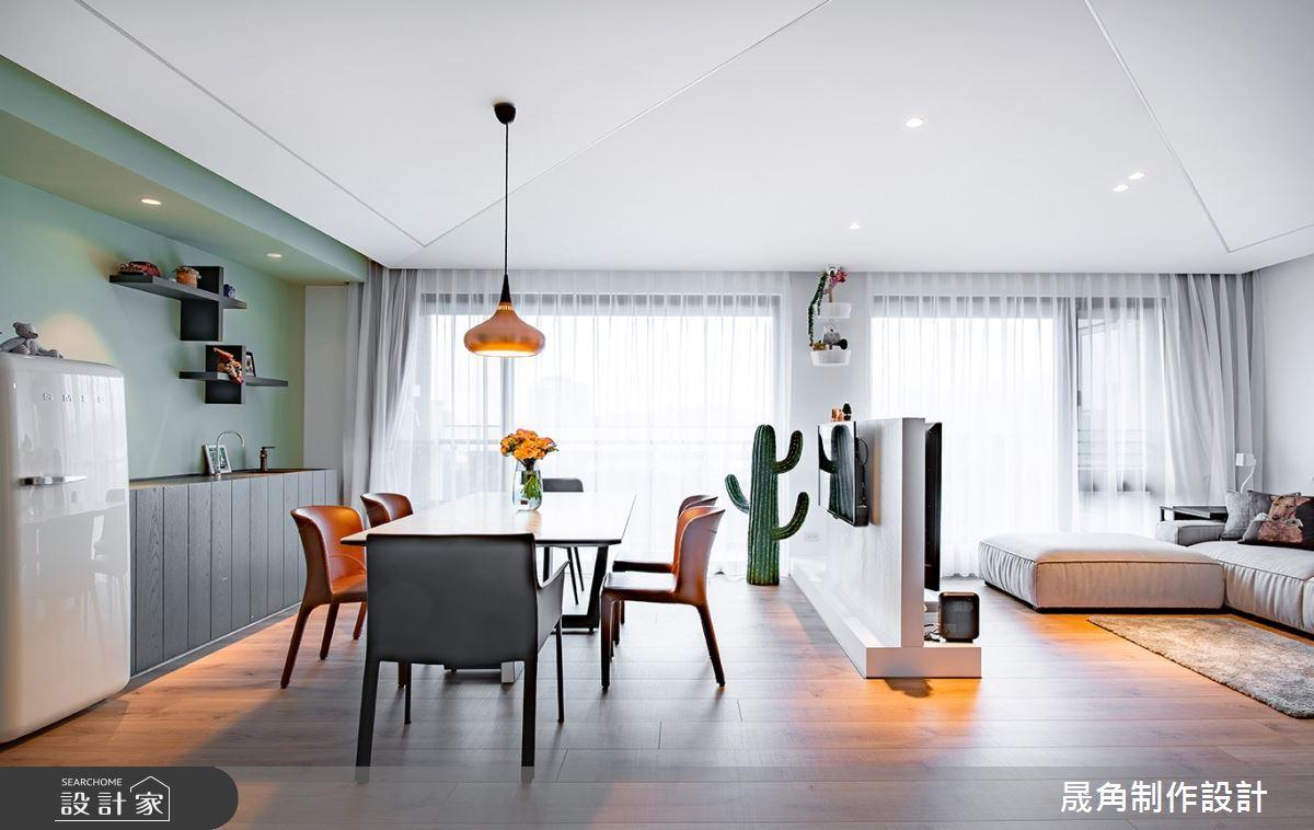 60坪新成屋(5年以下)_北歐風餐廳案例圖片_晟角制作設計有限公司_晟角_風稜之5