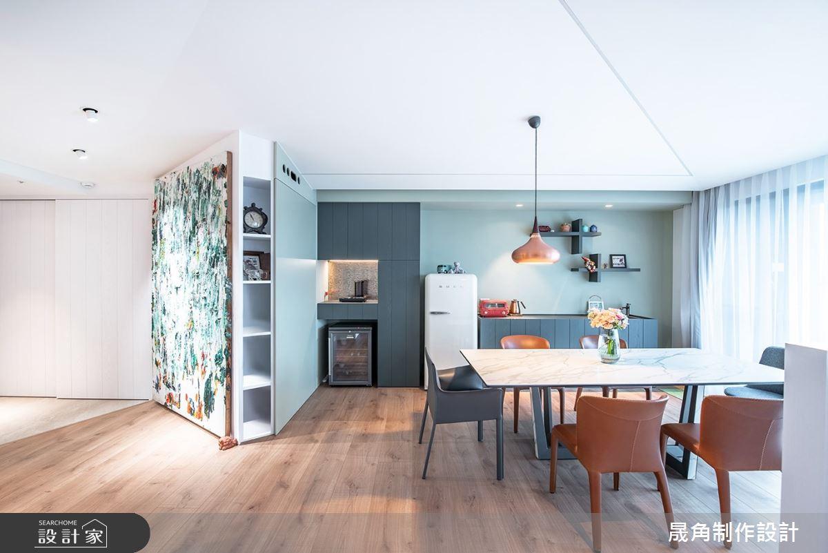 60坪新成屋(5年以下)_北歐風餐廳案例圖片_晟角制作設計有限公司_晟角_風稜之4