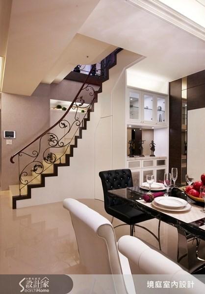 1坪新成屋(5年以下)_新古典餐廳樓梯案例圖片_境庭室內裝修工程有限公司_境庭_10之12