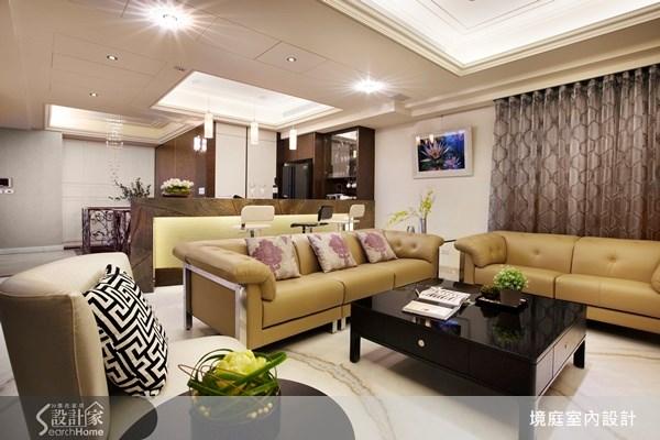 1坪新成屋(5年以下)_新古典客廳案例圖片_境庭室內裝修工程有限公司_境庭_10之6