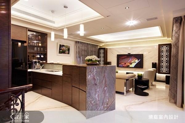 1坪新成屋(5年以下)_新古典客廳吧檯案例圖片_境庭室內裝修工程有限公司_境庭_10之3