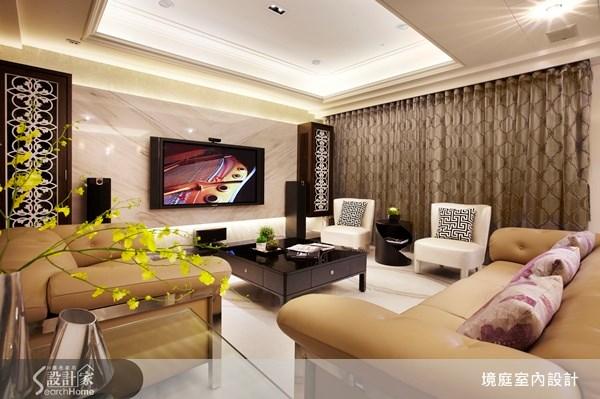 1坪新成屋(5年以下)_新古典客廳案例圖片_境庭室內裝修工程有限公司_境庭_10之5
