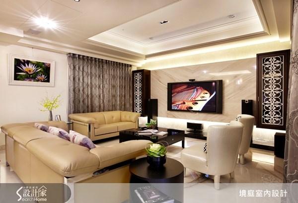 1坪新成屋(5年以下)_新古典客廳案例圖片_境庭室內裝修工程有限公司_境庭_10之4