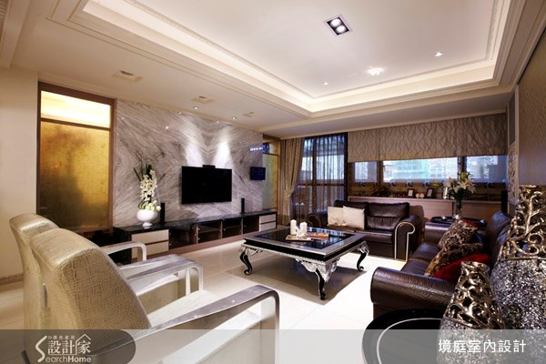 70坪新成屋(5年以下)_新古典客廳案例圖片_境庭室內裝修工程有限公司_境庭_12之3
