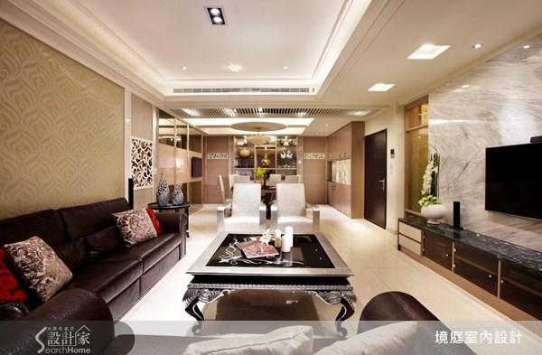 70坪新成屋(5年以下)_新古典客廳餐廳案例圖片_境庭室內裝修工程有限公司_境庭_12之4