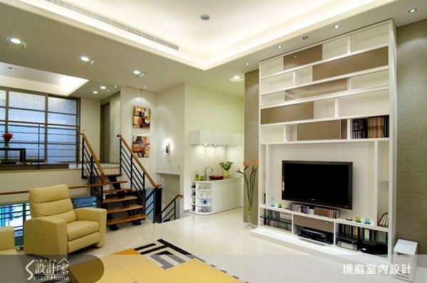 75坪新成屋(5年以下)_現代風客廳樓梯案例圖片_境庭室內裝修工程有限公司_境庭_13之1