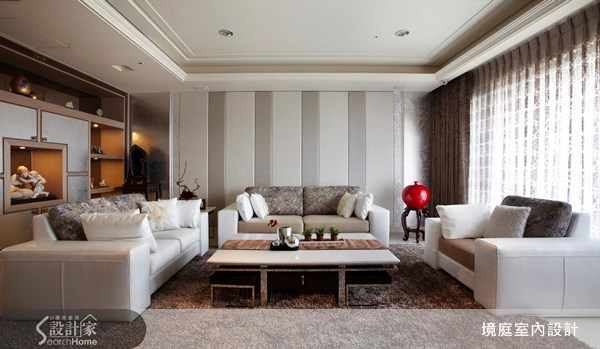 60坪新成屋(5年以下)_新古典客廳案例圖片_境庭室內裝修工程有限公司_境庭_15之3