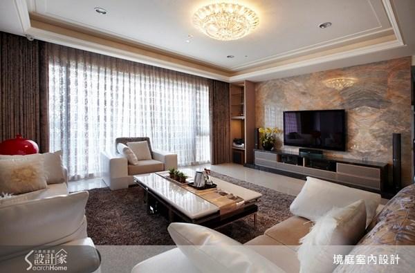 60坪新成屋(5年以下)_新古典客廳案例圖片_境庭室內裝修工程有限公司_境庭_15之4
