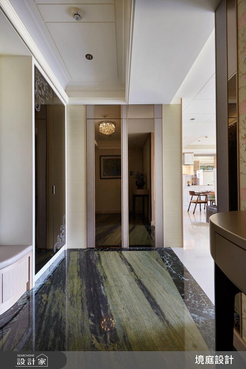 60坪新成屋(5年以下)_新古典玄關案例圖片_境庭室內裝修工程有限公司_境庭_25之2