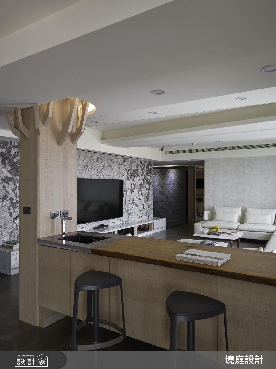 105坪新成屋(5年以下)_現代風客廳案例圖片_境庭室內裝修工程有限公司_境庭_28之5