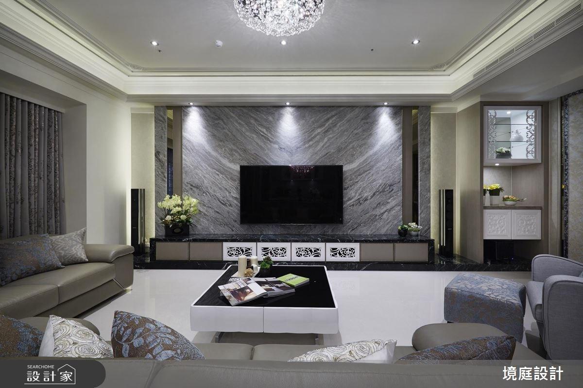 60坪新成屋(5年以下)_混搭風客廳案例圖片_境庭室內裝修工程有限公司_境庭_34之4