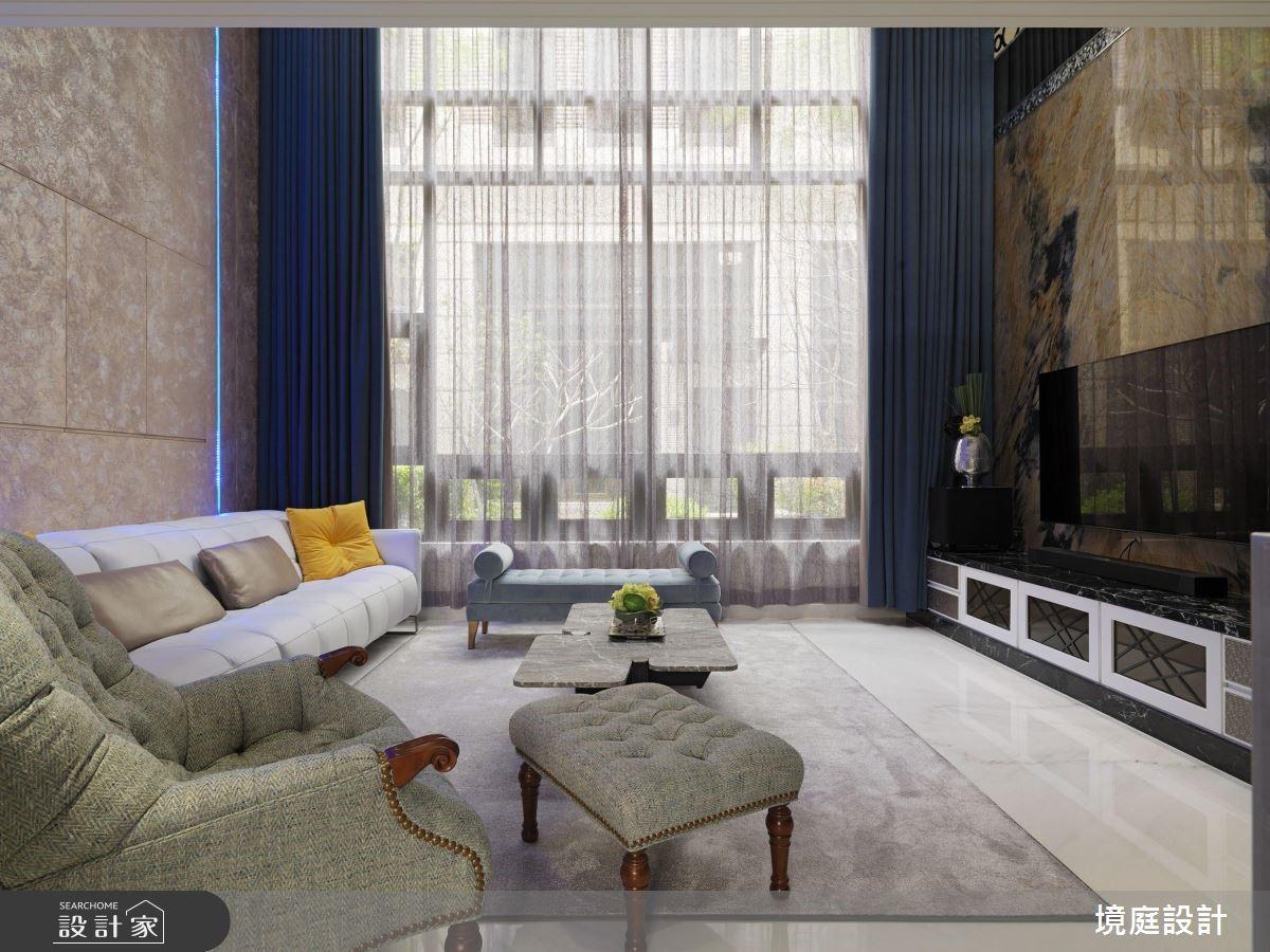 60坪新成屋(5年以下)_混搭風客廳案例圖片_境庭室內裝修工程有限公司_境庭_38之5
