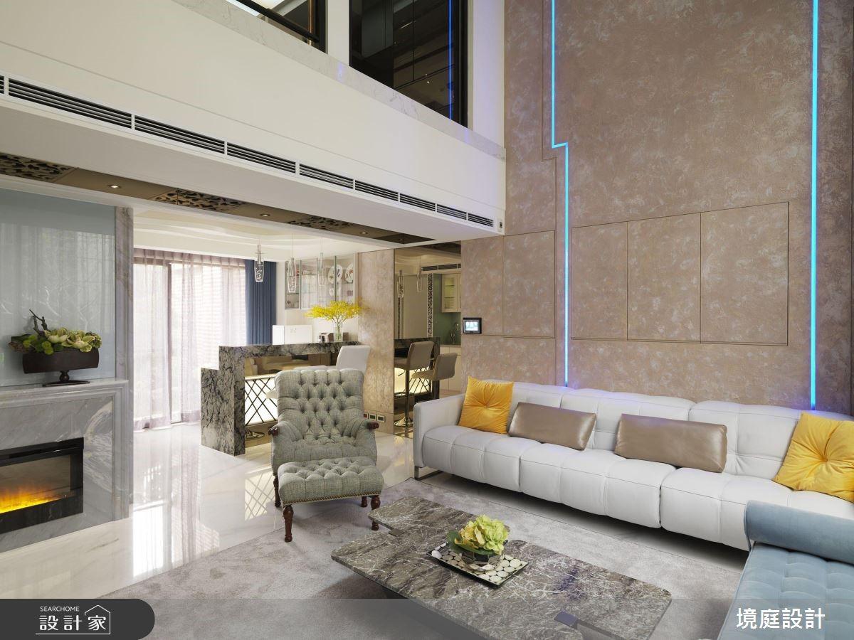 60坪新成屋(5年以下)_混搭風客廳案例圖片_境庭室內裝修工程有限公司_境庭_38之6