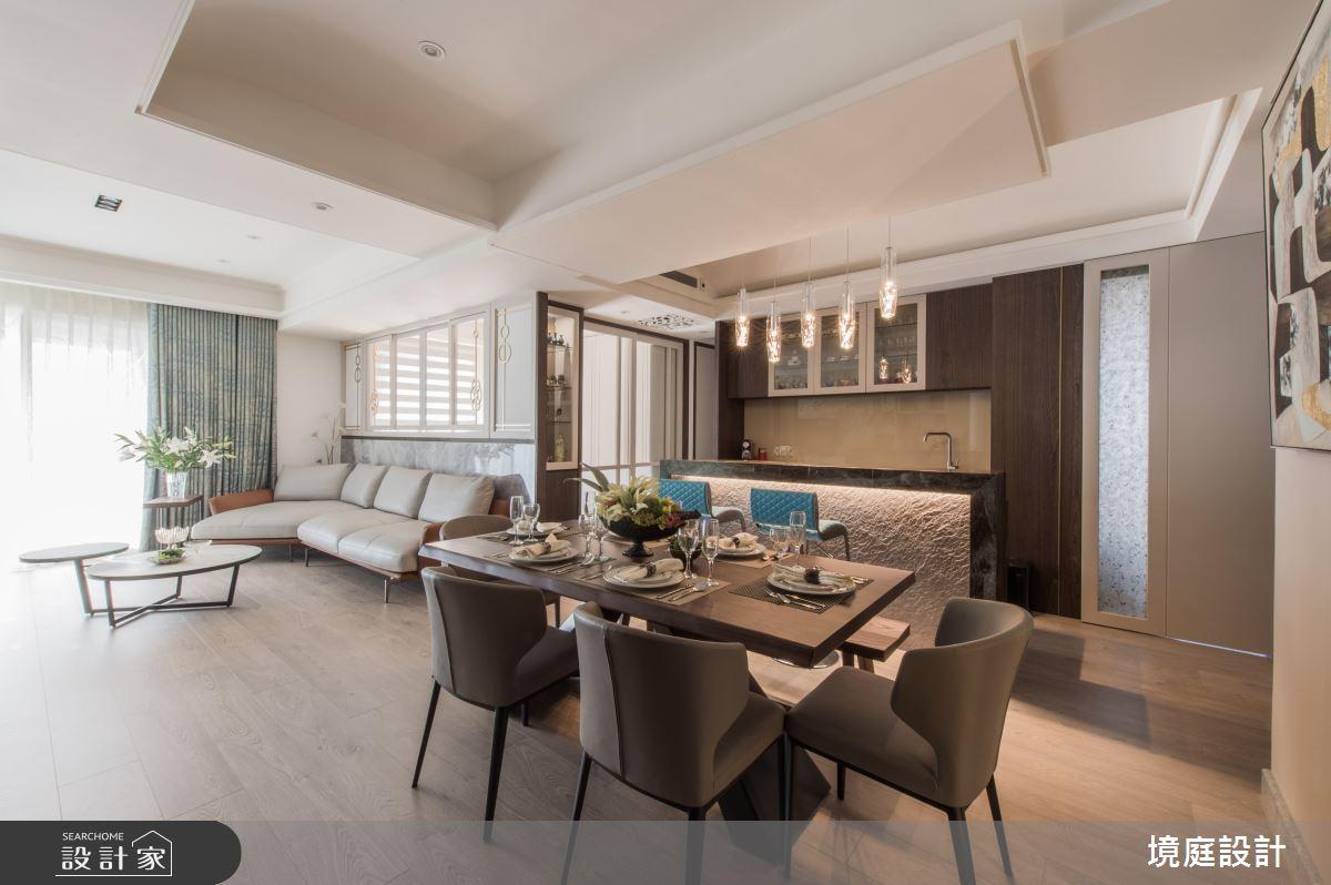 35坪新成屋(5年以下)_混搭風餐廳案例圖片_境庭室內裝修工程有限公司_境庭_45之3