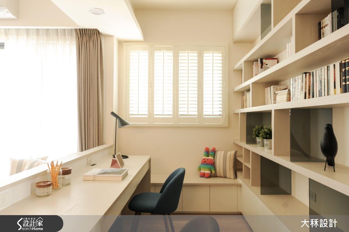 30坪新成屋(5年以下)_北歐風書房案例圖片_大秝空間設計/建築規劃_大秝_15之9