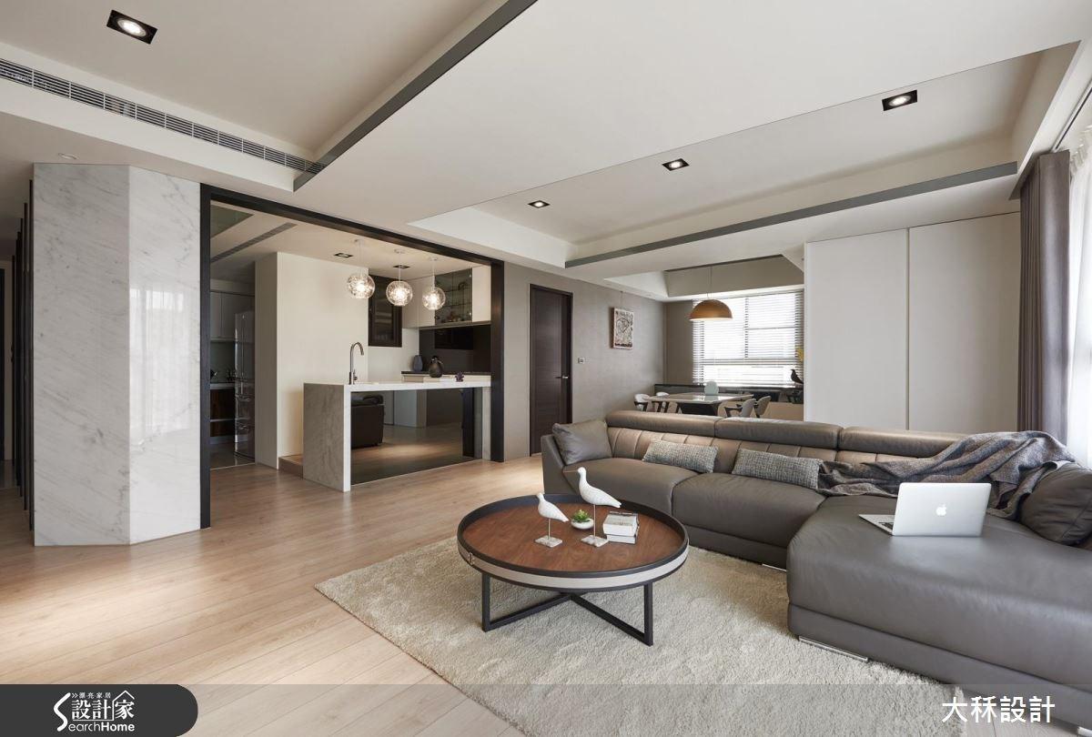 60坪新成屋(5年以下)_現代風客廳餐廳廚房吧檯案例圖片_大秝空間設計/建築規劃_大秝_19之4